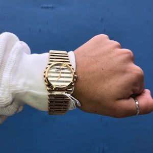 Jean Paul Gaultier Vintage New Gold Watch In Box